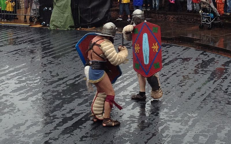 File:Gladiator Reenactment - Roman Festival at Augusta Raurica - August 2013.JPG