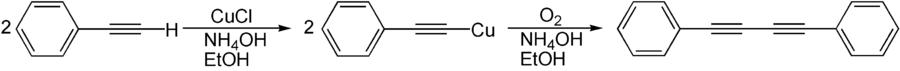 Synthese eines Diins