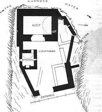 Glengarnock Castle - A plan of Glengarnock Castle.
