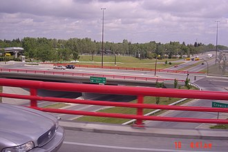 Alberta Highway 8 - The intersection of Glenmore Trail at Crowchild Trail in Calgary