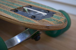 Longboarding - Drop-through longboard deck
