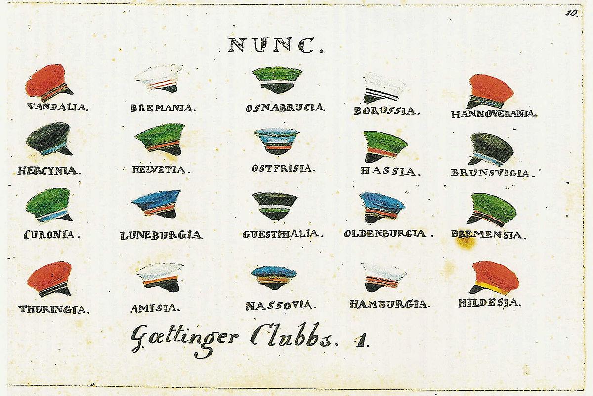 Göttinger Landsmannschaften Und Corps Vor 1870 Wikipedia