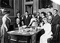 Governor Edward F. Dunne signs the Suffrage Bill in Illnois, June 26, 1913.jpg