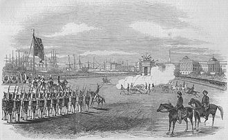 First Anglo-Sikh War - Grand field day at Calcutta - arrival of the captured Sikh guns