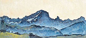 "Grand Muveran - ""Grand Muveran"" by Ferdinand Hodler (1912)"