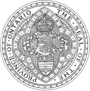 Great Seal of Ontario - Image: Great Seal of Ontario