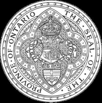 Great Seal of Ontario - The Great Seal of Ontario