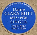 Greater London Council (GLC) blue plaque Dame Clara Butt.jpg