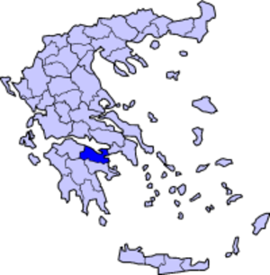 Doric Greek - Map of Corinthia
