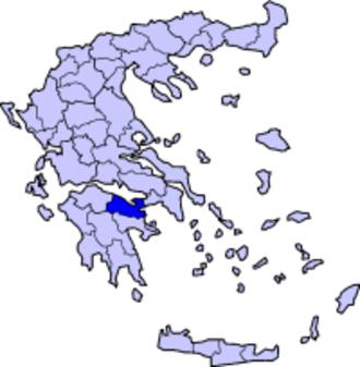Doric Greek - Map of Corinthia