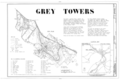Grey Towers, Old Route 6, Milford, Pike County, PA HABS PA,52-MILF.V,4- (sheet 1 of 8).png