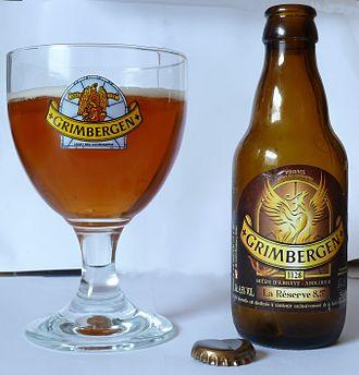 Grimbergen (beer) - Image: Grimbergen Kelch Flasche