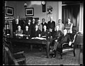 Group- includes, at table, center to right- Herbert Hoover, Hubert Work, Harry S. New, Andrew W. Mellon, and Calvin Coolidge LCCN2016893782.jpg