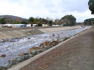 Trabuco Creek - Trabuco Creek filled with urban runoff after a storm
