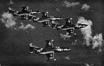 Grumman F9F-5 Panthers of VF-154 in flight, circa in 1954.jpg