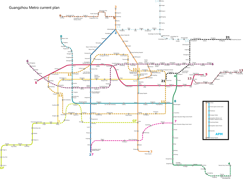 Guangzhou Metro Plan Map en.