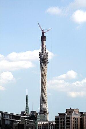 中文(简体): 在建中的广州电视观光塔(2008年)