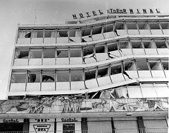 1976 Guatemala earthquake - Image: Guate Quake 1976Hotel Terminal A