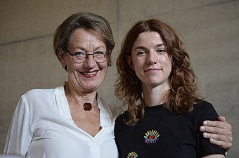 Gudrun Schyman och Ellen Ekman Världskulturmuseet Göteborg 2017.jpg