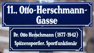 Otto Herschmann - Otto-Herschmann-Gasse in Vienna, Austria