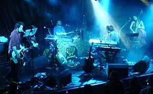 Colour photograph of Guillemots performing live in 2006