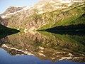 Gunsight Mountain from Gunsight Lake Backcountry Campsite - panoramio.jpg