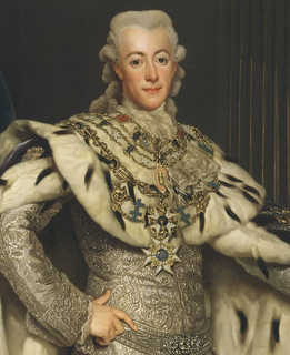 King of Sweden from 1771 to 1792