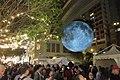 HK 灣仔 Wan Chai 利東街 Lee Tung The Avenue night 月球博物館 big Moon Museum by UK Luke Jerram October 2017 IX1 20.jpg