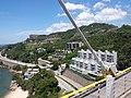 HK CityBus 960 view 汀九橋 Ting Kau Bridge 斜拉橋 Cable-stayed Tuen Mun District Tsing Long Highway August 2018 IX1 藍巴勒海峽 Rambler Channel 星悅海灣 Grand Rivera 08.jpg