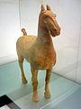 HK Museum of Art TST 加彩灰陶馬 Painted Grey Pottery Horse Han Dynasty.JPG