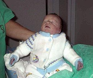 Blaues Munddreieck Baby