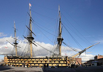 Museum ship - Image: HMS Victory Portsmouth England (version 2)