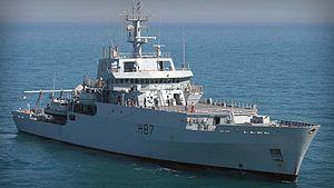 Echo-class survey ship (2002) - Image: HMS Echo (H87) 2015
