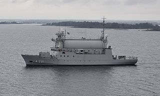 HSwMS <i>Orion</i> (A201) Swedish signals intelligence gathering vessel