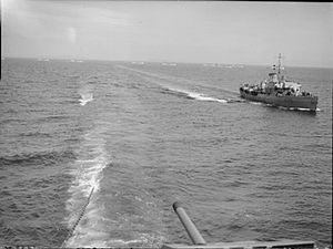 HMS Rhododendron (K78) - Image: HMS RHODODENDRON WWII IWM A23031