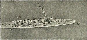 HMS Undaunted (1914) - Image: HMS Undaunted aerial view WWI