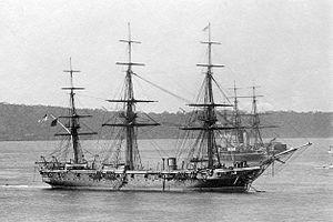 SS Kate (tug) - Image: HMS Wolverine (1863) AWM 300012