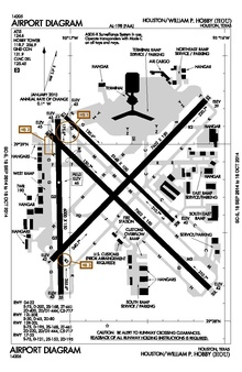 map of hobby airport houston tx William P Hobby Airport Wikipedia map of hobby airport houston tx