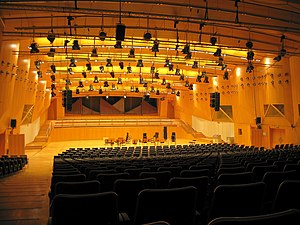 Mixtur - Broadcasting hall of the Hessischer Rundfunk, where the small-orchestra version of Mixtur was premiered in 1967