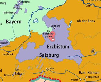 Berchtesgaden Provostry - Berchtesgaden Provostry and Archbishopric of Salzburg, 1789