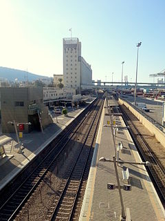Railway station in Haifa, Israel