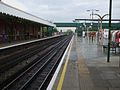 Hainault station platform 2 look south2.JPG