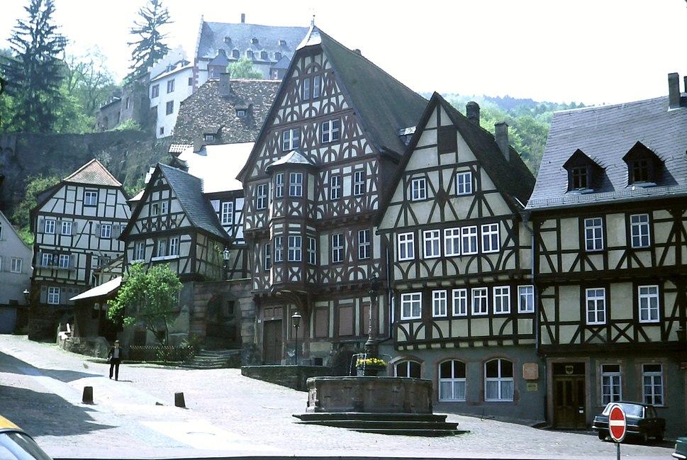 Half timbered houses, Miltenberg im Odenwald