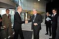 Halldor Asgrimsson (Nordiska ministerradets generalsekreterare) halsar Fredrik Reinfeldt (statsminister Sverige) valkommen till Nordic Clima Solutions i Kopenhamn 2008-11-25.jpg