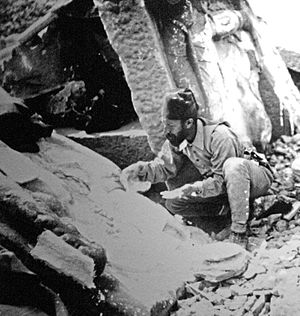 Osman Hamdi Bey - Osman Hamdi Bey excavating at the archaeological site in Mount Nemrut.