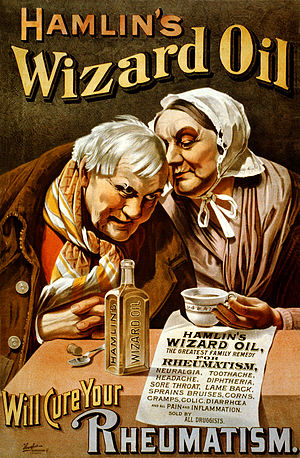 Hamlin's Wizard Oil - Advertising poster from about 1890