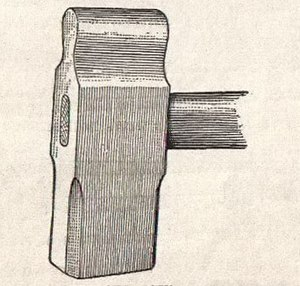 Sledgehammer - A straight peen sledge hammer from an 1899 American book on blacksmithing