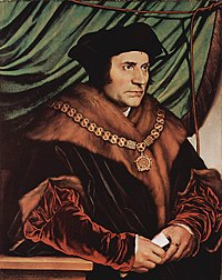 Thomas More was a leading counsellor to Henry VIII and served as Lord Chancellor from 1529 to 1532. He was imprisoned and beheaded in 1535 after he had fallen out of favour with the king over his refusal to sign the Act of Supremacy 1534.