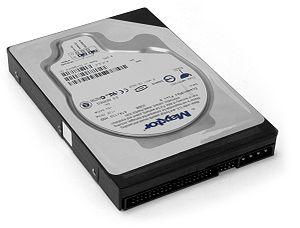 English: A Maxtor IDE Hard drive