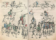 German Tournament ca. 1480, by the Master of the Housebook